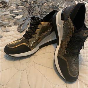 Michael Kors black/gold sneakers